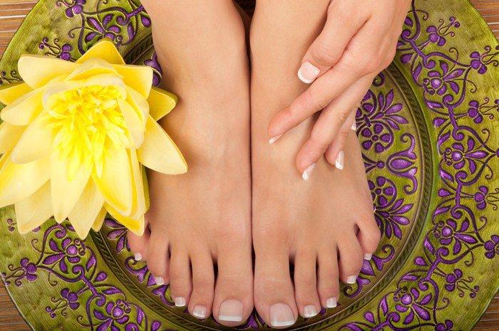 Obraz na Płótnie Pedicure i manicure spa - Uroda i pielęgnacja ciała