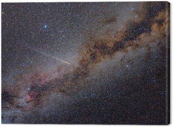 Obraz na Płótnie Perseid Meteor Crossing Drogę Mleczną
