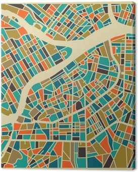 Obraz na Płótnie Petersburg map wektorowych. Kolorowe rocznika podstawy projektowania karty podróży, reklamy, prezent lub plakatu.