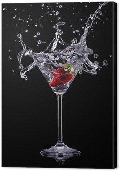 Obraz na Płótnie Pić martini na ciemnym tle