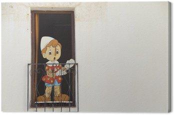 Obraz na Płótnie Piękna drewniana lalka