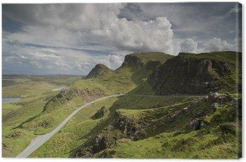 Obraz na Płótnie Piękna Zakres Quiraing gór w Isle of Skye, Szkocja