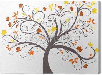 Obraz na Płótnie Piękne abstrakcyjne wektora drzewa jesienią projekt