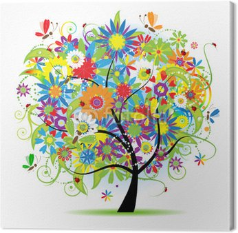 Obraz na Płótnie Piękne drzewa kwiatu