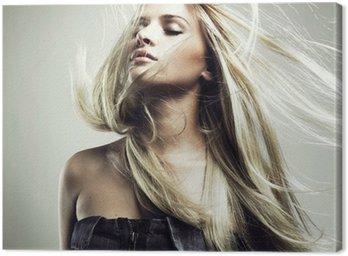 Obraz na Płótnie Piękne kobiety z wspaniałe włosy