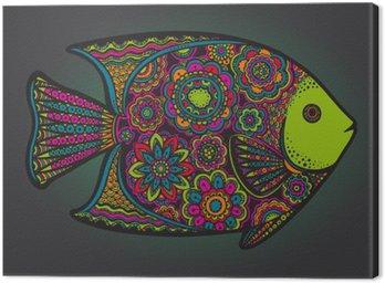 Piękne kolorowe ręcznie rysowane wektor ryb