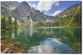 Obraz na Płótnie Piękne krajobrazy Tatr i jezioro w Polsce