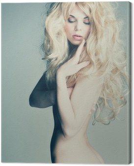 Obraz na Płótnie Piękne nagie kobiety z sexy ciała i blond włosy