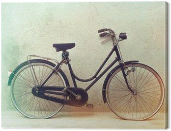 Obraz na Płótnie Piękne Stare retro zardzewiały rower z niesamowite kolory na efekt