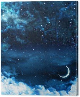 Obraz na Płótnie Piękne tło, nocne niebo