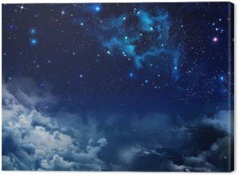 Obraz na Płótnie Piękne tło nocnego nieba z gwiazdami