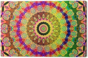 Obraz na Płótnie Piękny kolorowy mandala