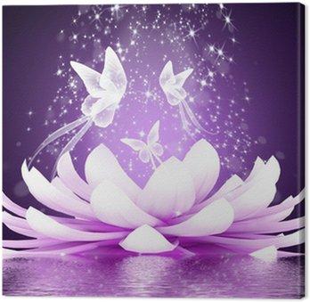 Obraz na Płótnie Piękny kwiat lotosu