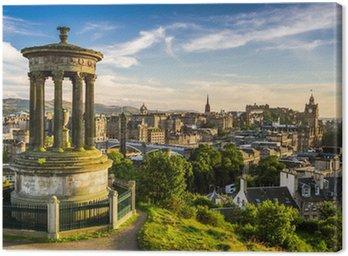 Obraz na Płótnie Piękny widok na miasto z Edynburg