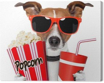 Obraz na Płótnie Pies oglądania filmu