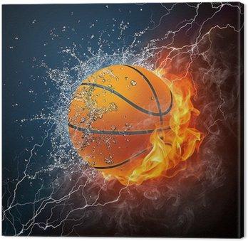 Obraz na Płótnie Piłka do koszykówki