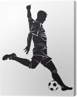Obraz na Płótnie Piłka nożna (soccer) gracz z piłką