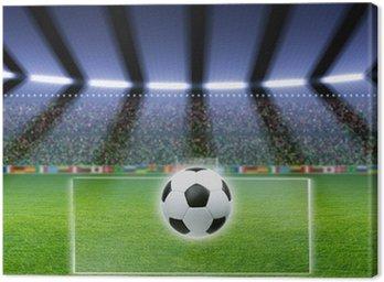 Obraz na Płótnie Piłka nożna, stadion, reflektory