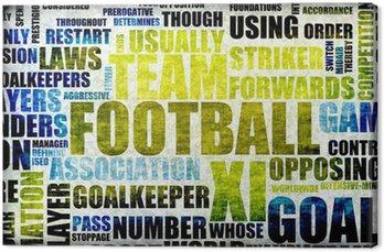 Obraz na Płótnie Piłka nożna w tle