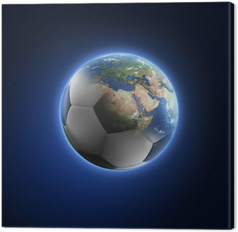 Obraz na Płótnie Piłka przekształcenie Ziemi na ciemnym tle