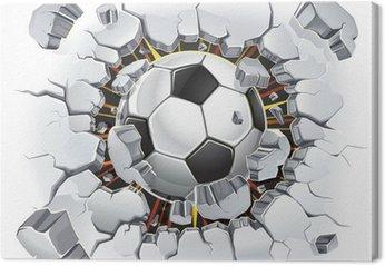Obraz na Płótnie Piłka uszkodzenia ścian i starych tynków. ilustracji wektorowych