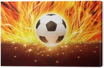Obraz na Płótnie Piłka w ogniu