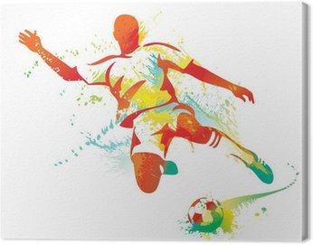 Obraz na Płótnie Piłkarz kopie piłkę. ilustracji wektorowych.