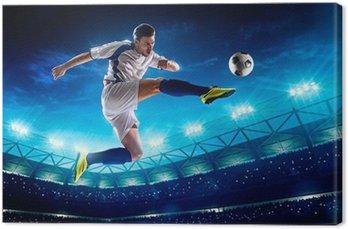 Obraz na Płótnie Piłkarz w akcji