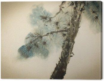 Obraz na Płótnie Pine pnia i gałęzi