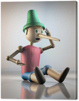 Obraz na Płótnie Pinokio 3D 1