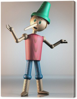 Obraz na Płótnie Pinokio 3D 2
