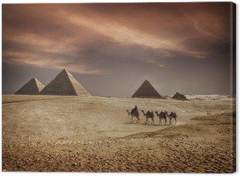 Obraz na Płótnie Piramidy w Egipcie