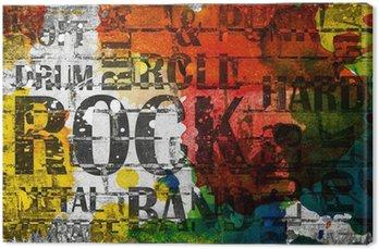 Obraz na Płótnie Plakat grunge rock