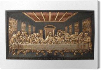 Obraz na Płótnie Plaque Żeliwny przedstawiająca Ostatnią Wieczerzę.