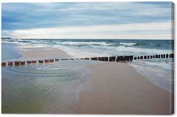 Obraz na Płótnie Plaża i błękitne morze