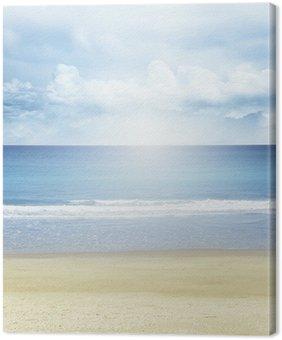 Obraz na Płótnie Plaża, morze i słońce.