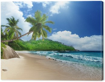 Obraz na Płótnie Plaża w mieście Wyspa Mahe, Seszele
