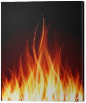 Obraz na Płótnie Płomień ogień palić tło wektor