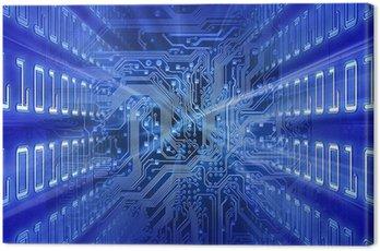 Obraz na Płótnie Płytka (niebieska energia)