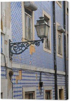 Obraz na Płótnie Płytki na ścianie w Lizbona, Portugalia