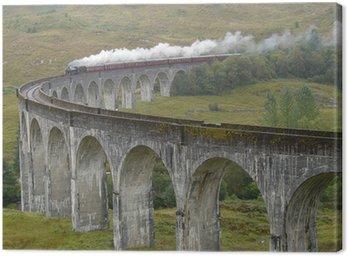 Pociąg na wiadukcie Glenfinnan. Szkocja.