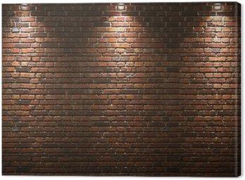 Obraz na Płótnie Podświetlany mur