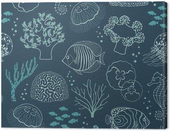 Obraz na Płótnie Podwodne życie wzór