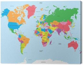 Obraz na Płótnie Polityczna mapa świata wektor