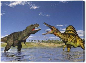 Obraz na Płótnie Polowanie dinozaurów