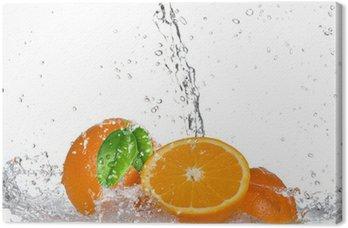 Obraz na Płótnie Pomarańcze z zalewaniem