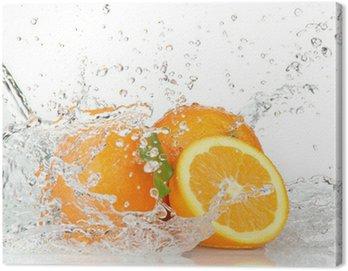 Obraz na Płótnie Pomarańczowe owoce z zalewaniem