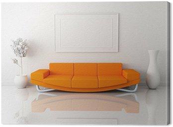 Obraz na Płótnie Pomarańczowy sofa