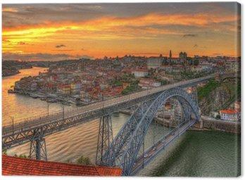 Obraz na Płótnie Porto z mostu Dom Luís - Portugalia