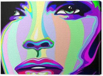 Obraz na Płótnie Portret dziewczyny psychodeliczny tęczy Viso ragazza psychedelico